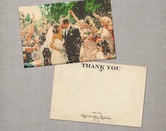 "Vintage Wedding Thank You Cards / Wedding thank yous / Wedding Thank You Cards / Thank you Cards / Thank you card - the ""Alysse"""