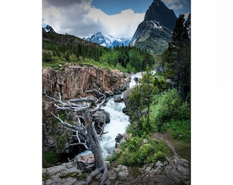 Waterfall in the Swiftcurrent River below the Dam on Swiftcurrent Lake in Glacier National Park No. 3 - A Landscape Photograph
