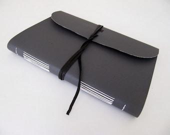 limp Library Buckram cloth journal - grey, longstitch