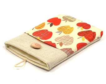 50% OFF SALE Retro apples iPad Case with button closure. Padded Cover for iPad Mini 1 2 3 4. iPad Mini Sleeve Bag.