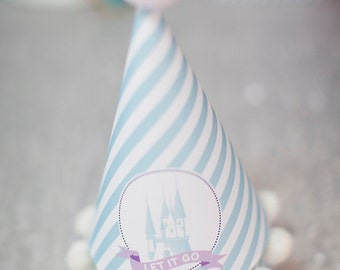 Frozen Party Hat- Printable, Instant Download