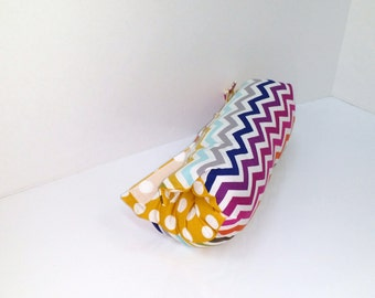 Infant Car Seat ARM PAD, Handle Cover Wrap, Reversible -  Multi-Colored Chevron