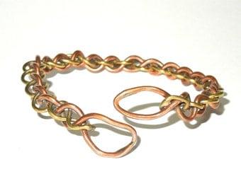 Brass and Copper Bracelet, Cuff, Women, Men, Ready To Ship