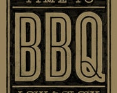 Time to BBQ art print new colorway
