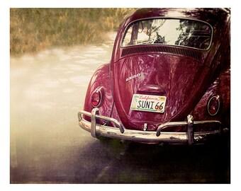 Beach, Art, Photography, VW Bug, Fine Art Photography, 1966, Sunny 66, Summer, Vintage VW, California, fine art print