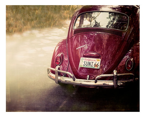 Beach, Art, Photography, VW Bug, Fine Art Photography, 1966, Sunny 66, Summer, Vintage VW, California, fine art print