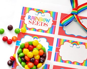 Rainbow Buffet Table Cards / Rainbow Party / Rainbow Birthday / Rainbow Party Printables / INSTANT DOWNLOAD