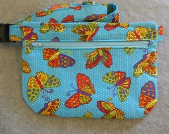 Hip Bag - Butterflies and Polka Dots