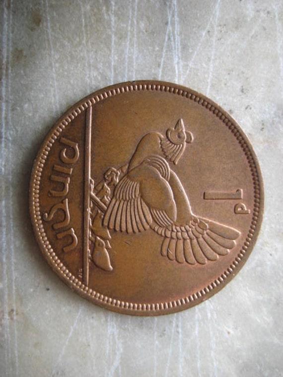 1 Pingin Bronze Coin 1966 Ireland Clairseach And By Starpower99