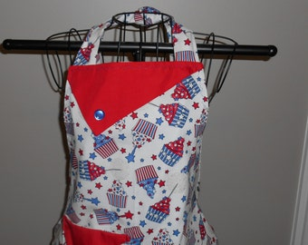 Stars and Stripes Cupcakes Women's Apron