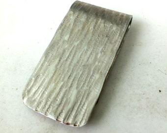 Money Clip  in Nickel  Silver ----Line Texture