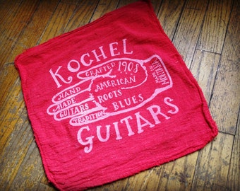 Guitar Towel silk screen