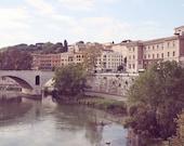Rome Italy Photography - Tiber River Photo - Roman Bridge - Italian Architecture Print - Rome Landscape - Travel Photography - World Cities