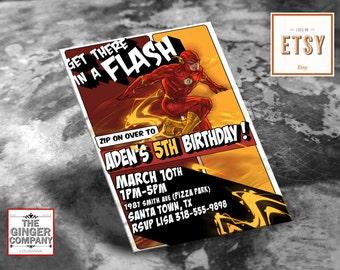 The Flash Birthday Invitation Card