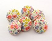 Magnets - Tana Lawn - Thumbtacks /Phoebe Print / Liberty of London Fabric / Office Decoration - Hostess Gift - Small Present 117