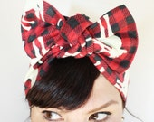 Plaid Moose Headscarf