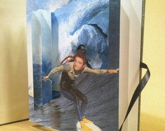Elvis and Salvador Dali go Surfing Limited Edition Tunnel Book