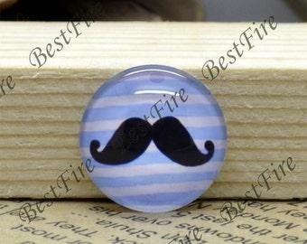10mm,12mm,14mm,16mm,18mm,20mm,25mm,30mm Round Glass Cabochons mustache Glass Cabochons finding beads,mustache Photo Glass Cabochons