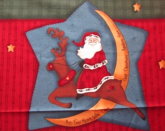 LESLIiE BECK CHRiSTMAS VEST FaBRiC PaNeL to Cut and Sew Easy DIY