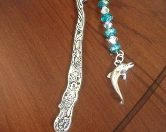 Teal Green Tropical Bookmark