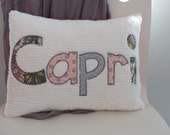Personalized Pillow Name Pillow Custom Word Pillow Chenille Pillow Front