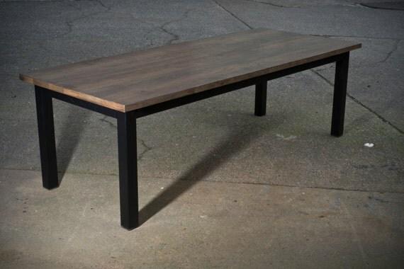 table de ferme moderne. Black Bedroom Furniture Sets. Home Design Ideas
