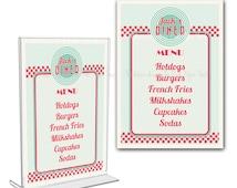 Retro Diner Menu Card - Customizable Texts - Print Your Own