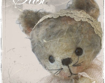 pattern kitten cat Susi epattern 5 inch by ASTRIDBEARS - PDF sewing stuffed animals