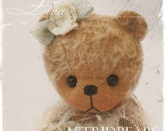 Pattern Bear Teddybear Sewing Stuffed Animals Lina 5.5 inch Astridbears digital printable patterns PDF Instant Download