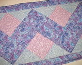 Pastel Table Runner in Zigzag Design fabric from Michael Miller and Blank Quilting