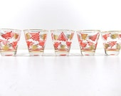 5 Retro Shot Glasses