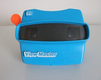 Vintage 1980s View Master 3D Toy in Blue Viewmaster