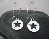 Silver Star Earrings - Simple Everyday Silver Earrings - Celestial Jewelry