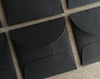 "Small Black Square Envelopes - Size 3"" x 3"""