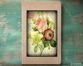 "Botanical Art Journal or Sketchbook: 8x5"" Recycled Lined Notebook or Unlined Blank Sketchbook, art journal, ""Vintage Bouquet"""