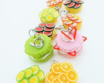 Miniature Polymer Clay Foods Supplies for Beaded Jewelry Charm, 10 pcs