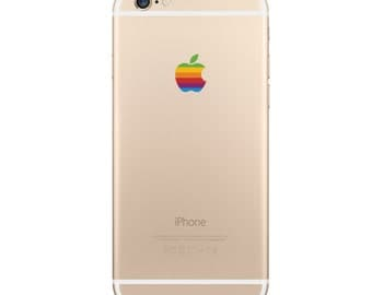 Apple iPhone 7 Plus and iPhone 6 Plus Retro Logo Decal