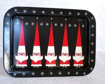 Vintage DQ Santa Serving Tray  /  Promotional DQ Vintage Santa TV Tray  /  Dairy Queen  Serving Tray