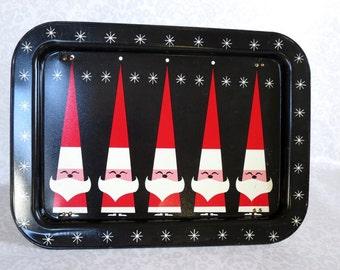 Vintage DQ Santa Televistion Tray, Dairy Queen Serving Tray,  Holt Howard DQ Vintage Santa TV Tray, Holt Howard Santa