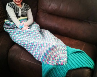 ADULT size custom Mermaid blanket