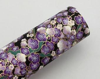 Paper Swatch PRP1 - Purple Plum Blossoms - Chiyogami Paper