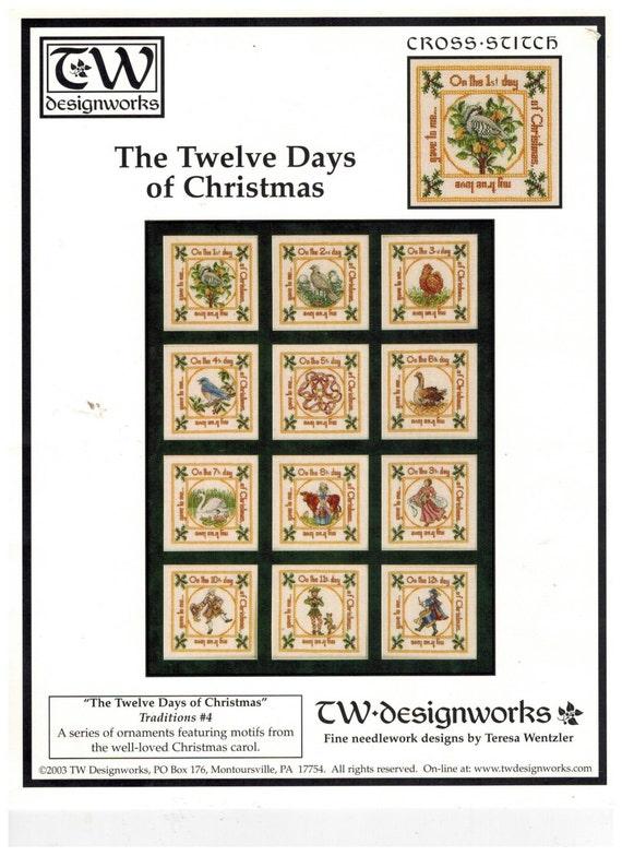 Teresa Wentzler Twelve Days of Christmas Ornaments Cross