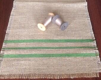 Burlap Table Runner Grain Sack True Green Burlap Tablerunner 12x60 by sweetjanesplan