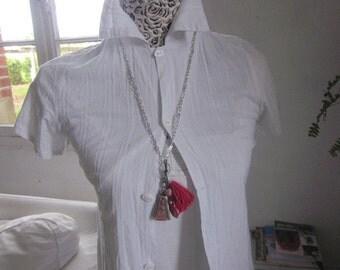 Thai Blessed Buddha Clay Amulet Pendant Necklace,  Buddha, Buddhism, Handmade,
