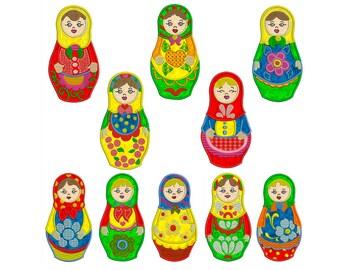 MAMUSHKAS - Machine Applique Embroidery - Instant Digital Download
