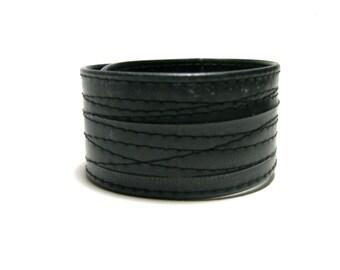 Black Thin Bike Tube Cuff
