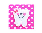 Tooth Pocket Tooth Fairy Pin for Backpack or Bedroom