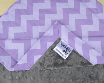 Purple Chevron Blanket