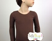CHILD (Brown) Long Sleeve Leotard