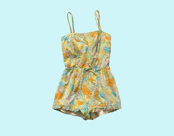 1960s Pastel Romper Swimsuit size S
